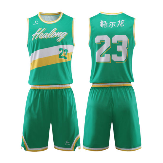 100%Polyester Latest Design Customized Sublimated Embroidered Basketball Jersey Uniform Design pictures & photos