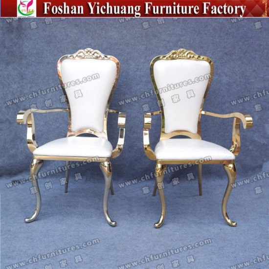 china wedding durable fancy king and queen gold throne chairs for