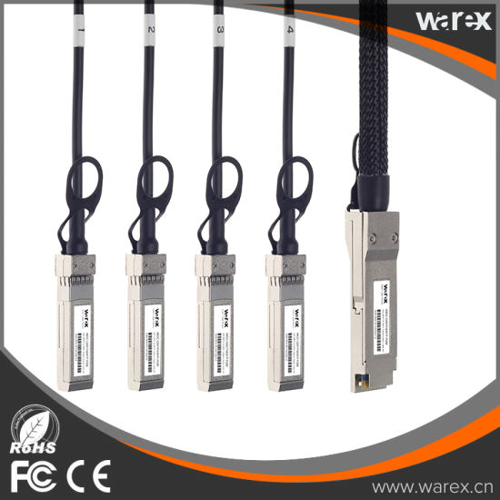 QSFP-4SFP10G-CU2M Compatible Direct Attach Copper Breakout Cable 2M pictures & photos