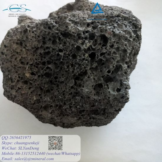 China Red Natural Lava Stone Pumice For Filter Water Treatment