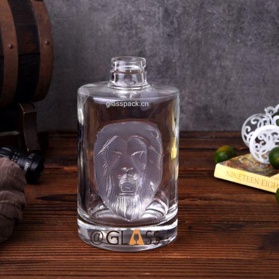 Super Flint Glass Vodka Bottle with Cork