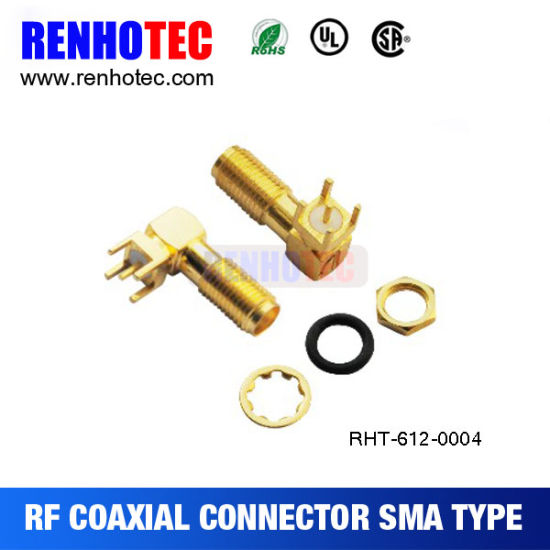 3G 4G SMA Connector Female Straight PCB Mount SMA Connector