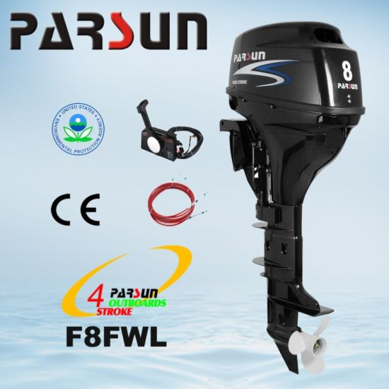 F8FWL, Parsun 8HP Remote Control, Electric Start, Long Shaft Boat Motor pictures & photos