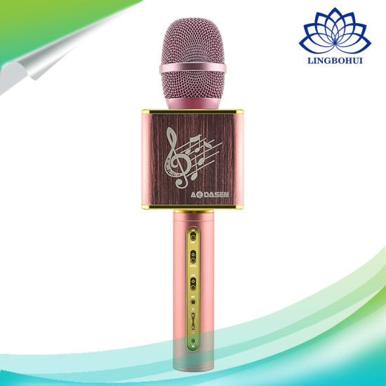 Portable Karaoke Player Wireless Bluetooth Speaker Microphone pictures & photos