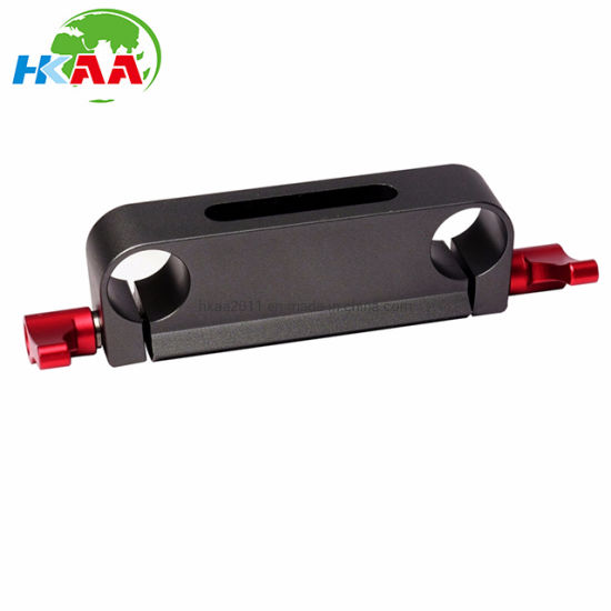 CNC Black Aluminum Dual Railblock Connector Support Bracket for 15mm Rail Rod Support System pictures & photos