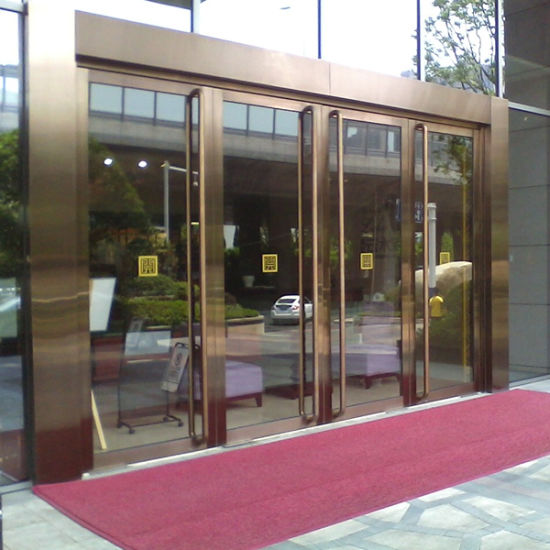 China Stainless Steel Tempered Glass Commercial Entry Door China