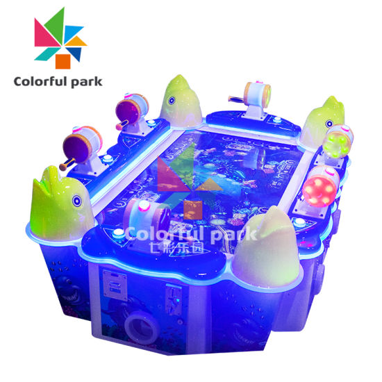 Colorful Park Amusement Equipment Fish Hunter Machine Video Games