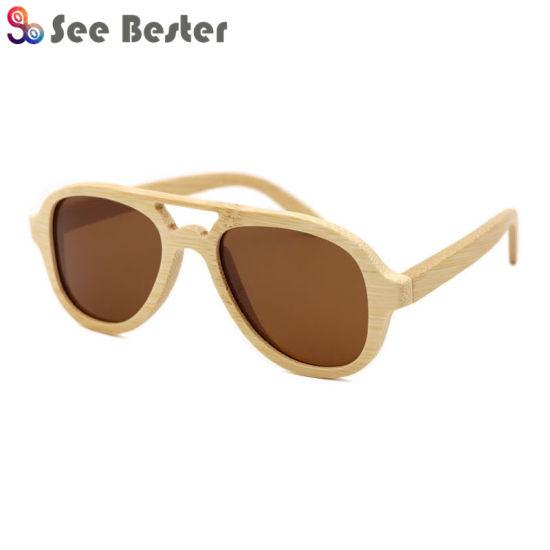 93290cf818 High Quality FDA Wholesale Mirror Lens China Wood Bamboo Sunglasses Custom  Logo Polarized 2018 Wooden Sunglasses