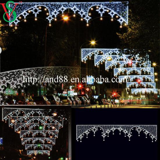 Holiday Decoration Star Motif Street Lights