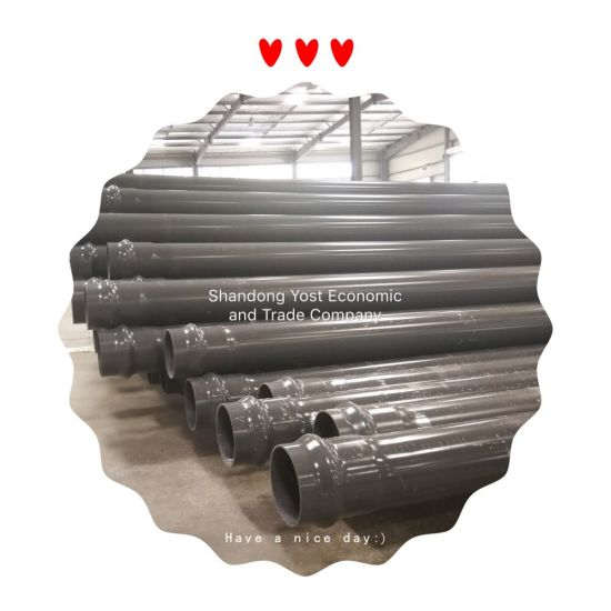 PVC Pressure Plastic Pipes Fitting Pn6 Pn10 Pn16 High Pressure Tube Conduits and Fittings Pipes