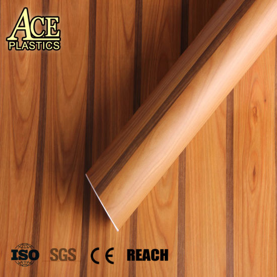 China Wood Grain PVC Decorative Film for Wall Panel/Window