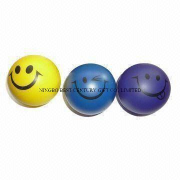 PU Foam Smiley Stress Ball Shape