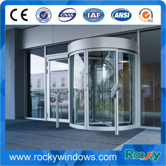 China New Design Glass Revolving Door For Hotel Airport Shopping