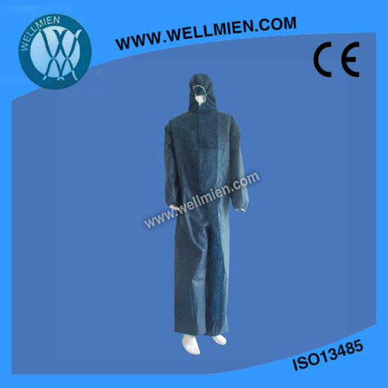 Wholesale Disposable Type5/6 Dark Blue Coverall