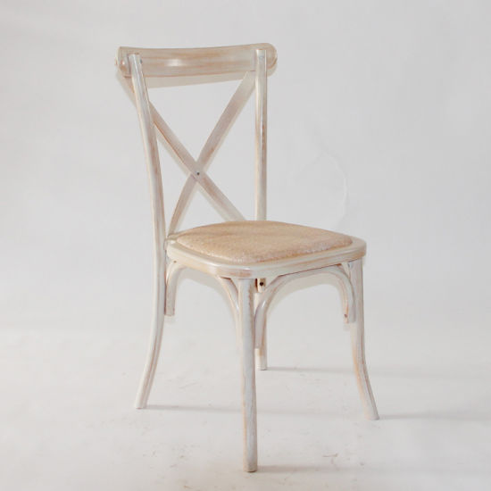 Solid Wood Cross Back Chair For Bistro