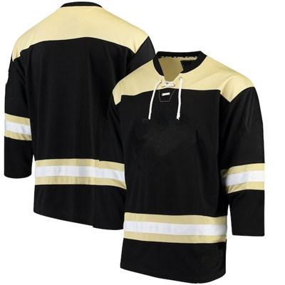 Custom Men's Black Color Team Wear Ice Hockey Jersey