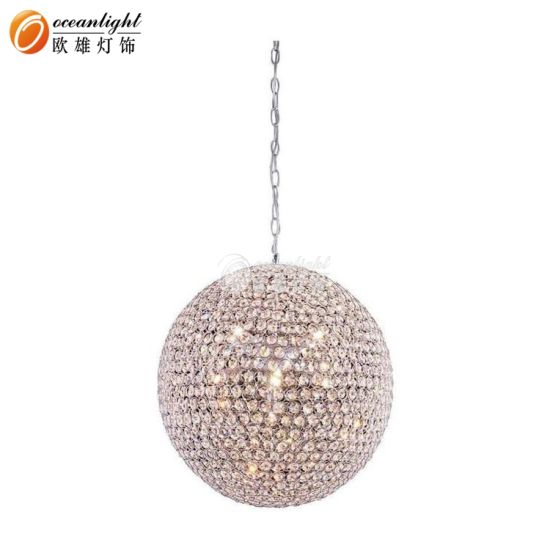 Modern Indoor Crystal Sphere Ball Chandelier Pendant Light
