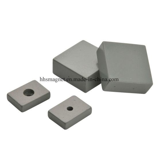 Permanent Hard Ferrite Ceramic Block Magnet with Hole