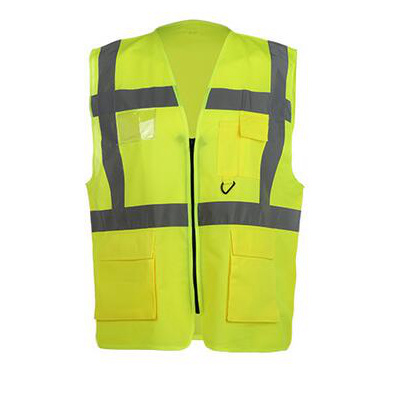 High Visibility Work Wear Reflective Safety Vest with Pockets