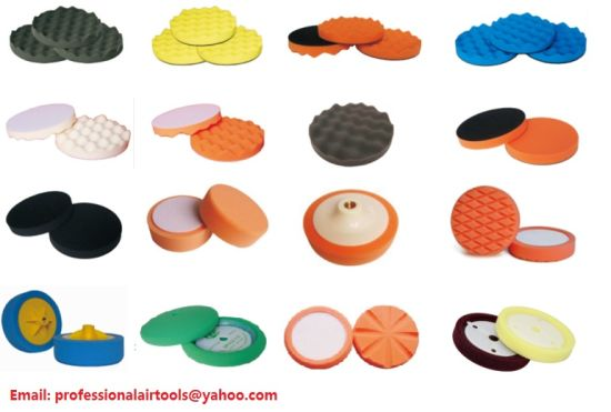 Sponge Pad Curl or Flat Face Type for Car Care Buffing Waxing Wax Disc Soft Foam Pad Polishing Wax Applicator