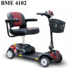 Four Wheeled Heavy Duty Long Range Mobility Scooter