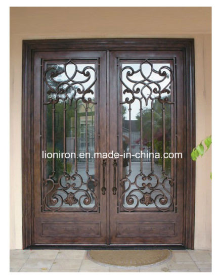 Modern And Simple Wrought Iron Security Doors