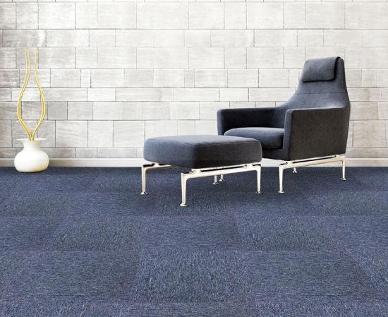 Eco Friendly Pp Plain Color Carpet Tiles 50x5cm Building Company Office Surface Pvc Backing