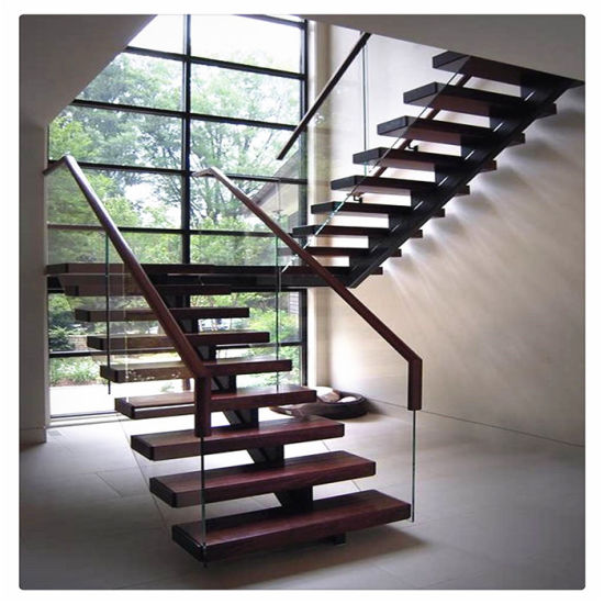 Residential Indoor Steel Straight Stairs for House Projects