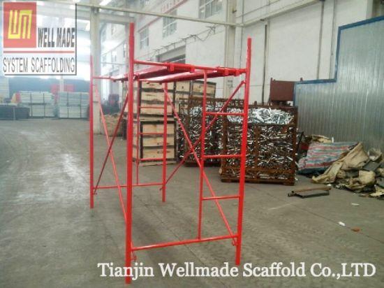f11f57d1346 China Construction Concrete Formwork Frames 1.7m H Frame Scaffolding ...