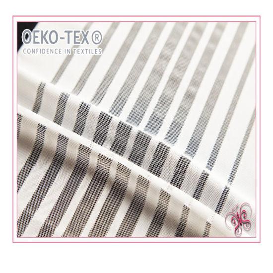 Stripe Lace Trim and Stripe Jacquard Mesh Hem