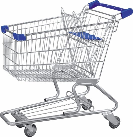 Hot Sale Supermarket Rolling Shopping Carts, Wholesale Carbon Steel Shopping Trolley Cart, Promotional Hand Push Grocery Cart