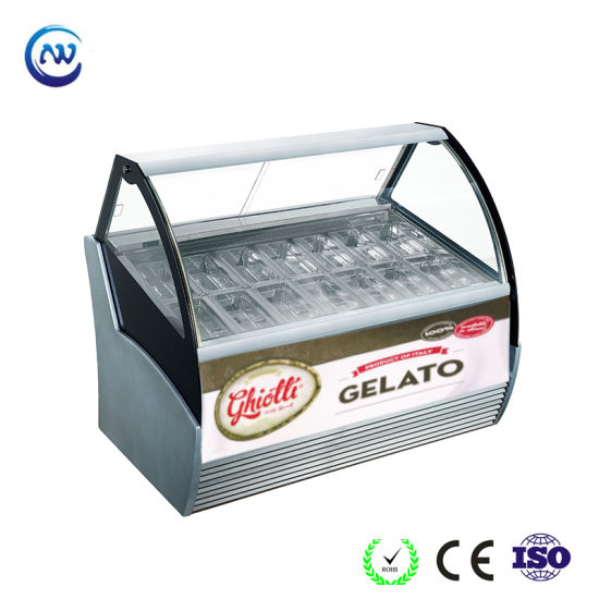 Ce Approved Commercial Gelato Ice Cream Popsicle Display Freezer Showcase Qd-Bb-12