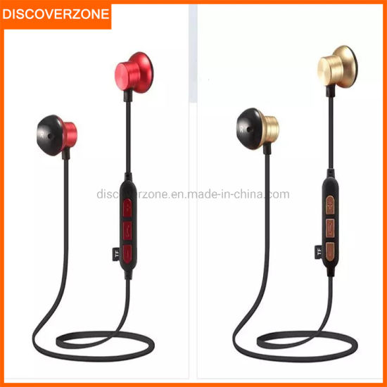 China M12 Wireless Fashion Sports Bluetooth Headset Plug Tf Card Microphone Headset Noise Reduction Magnet In Ear Hifi Music Audio China Bluetooth Headset And Headphone Price
