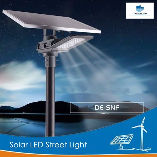 Delight 30W 60W Lithium Battery Solar LED Street Lamp pictures & photos