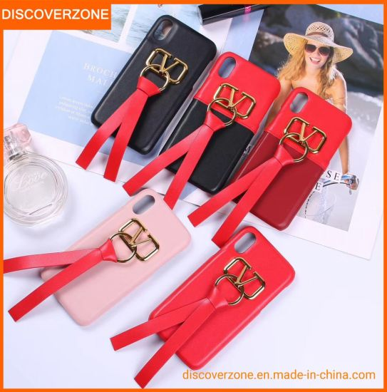 Fashion accessory Leather Mobile Phone Case Ribbon Phone Cover