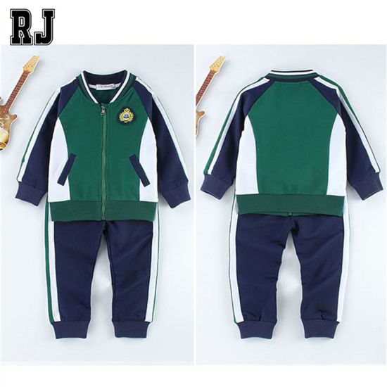 Spring New Boy Sports Suit Girl Dress and Leisure Suit Wholesale Kids Clothing