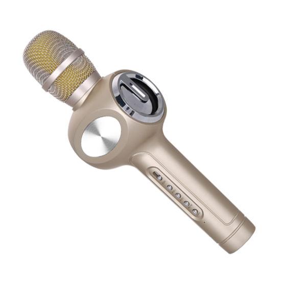 E108 Handhedl Dual Speaker Wireless Karaoke Microphone Audio Microphones for KTV