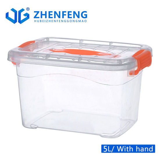 5L Transparent Wholesale Household Handled PP Storage Box Plastic Boxes