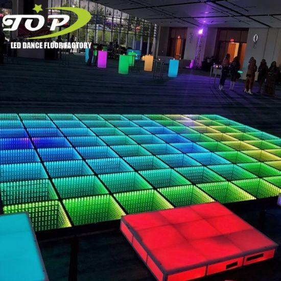 Portable Wedding Star Light DJ Night Club LED 3D Dance Floor for Rental