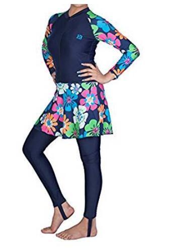 Hot Sale Lycra Long Sleeve One-Piece Muslims Swimwear / Beachwear