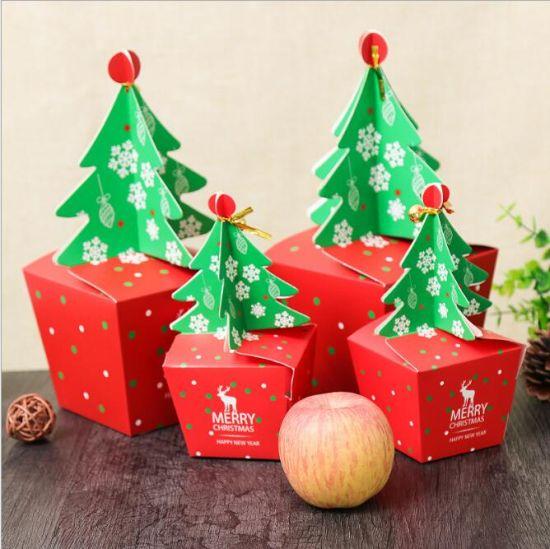 Hot Selling Instock White Card Christmas Gift Box/Christmas Eve Gift Box/ Candy Gift Box for Children/Christmas Kraft Paper Gift Packaging Box