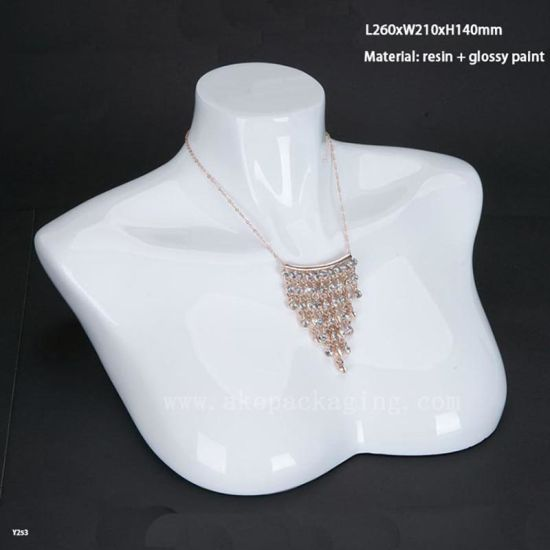 Wholesale Customize Resin Varnishing Necklace Jewelry Bust Exhibition Stand