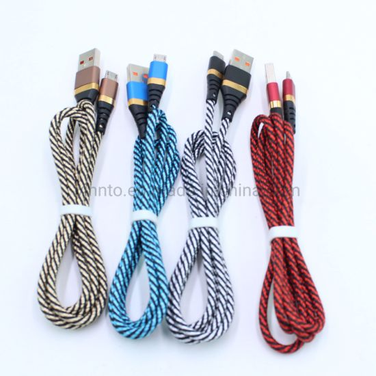 Mobile Phone Charger Data Cable for iPhone Micro Type-C USB Cable