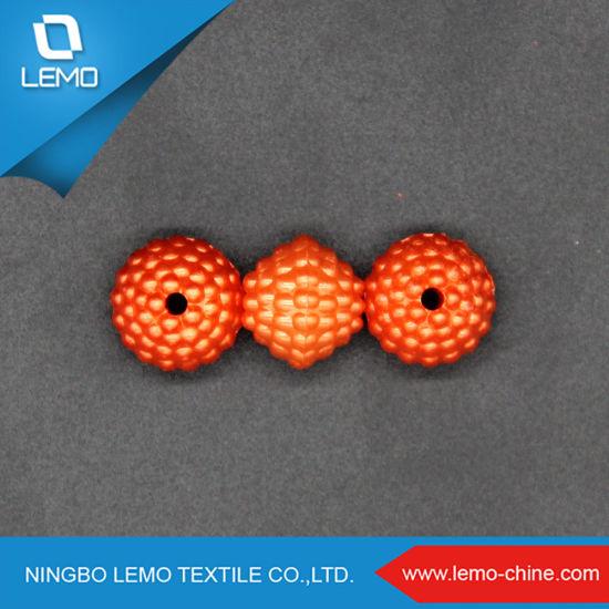 Ornamental Vivid Orange Color 13mm ABS Plastic Pearl Beads