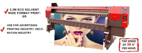 3.2m Large Format Digital Eco Solvent Printer for Banner Printing