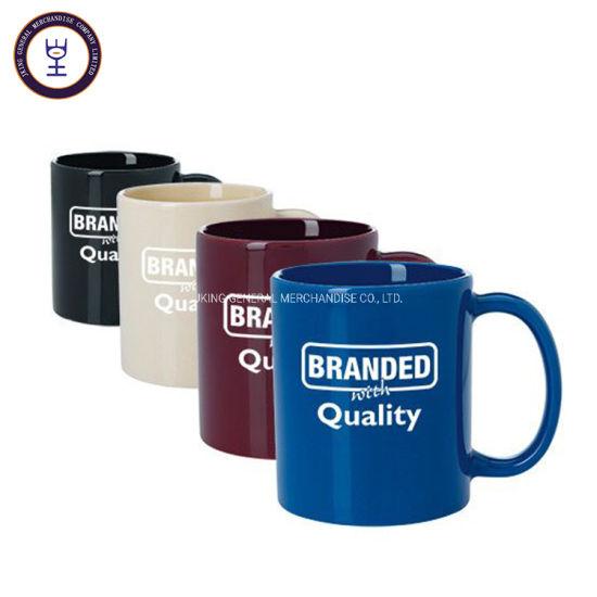 Hot Sales 11oz Standard Ceramic Mug with Solid Color