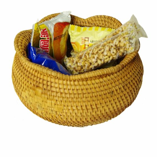 Handmade Natural Rattan Storage Basket for Shop/Home