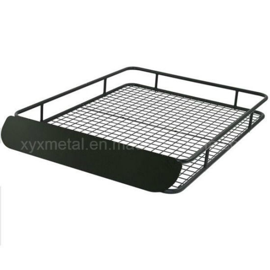 Extra-Large Steel Roof Cargo Rack Basket with Wind Fairing