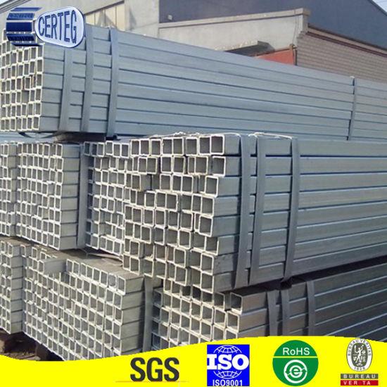 Common Carbon Q345/S355jr Galvanized 200X200 Square Steel Tube