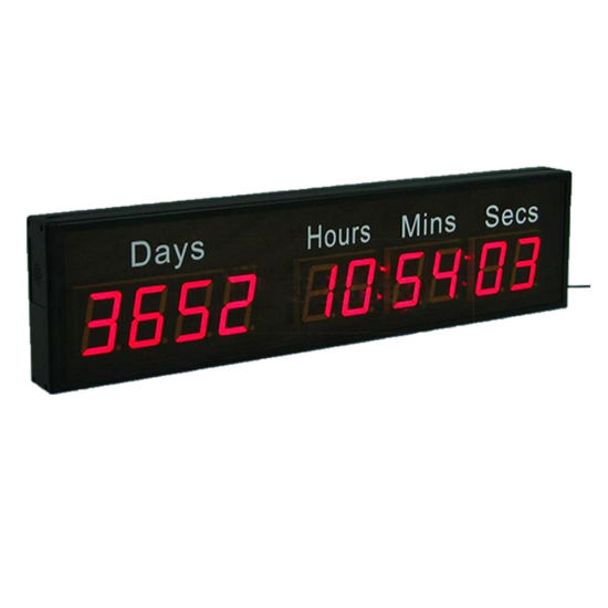 """2.3"""" 10 Digit Days Hours Minutes Seconds Red LED Countdown Timer Clock"""
